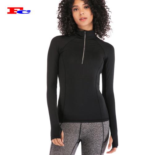 Fengcai Customize Track Vestes Vestes de sport demi-zip pour femmes