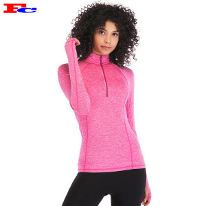 Wholesale Dry Fit Long Sleeve Nylon Spandex Half Zip Custom Track Jackets