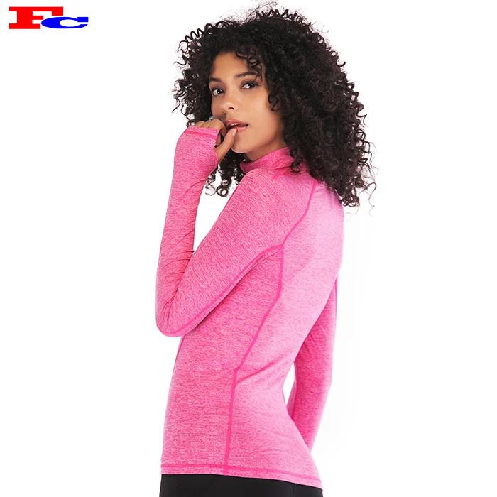 Großhandel Dry Fit Langarm Nylon Spandex Half Zip Custom Track Jacken