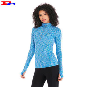 Fengcai Custom Dry Fit Space Dye Half Zip Gym Jacket Vêtements de sport en gros