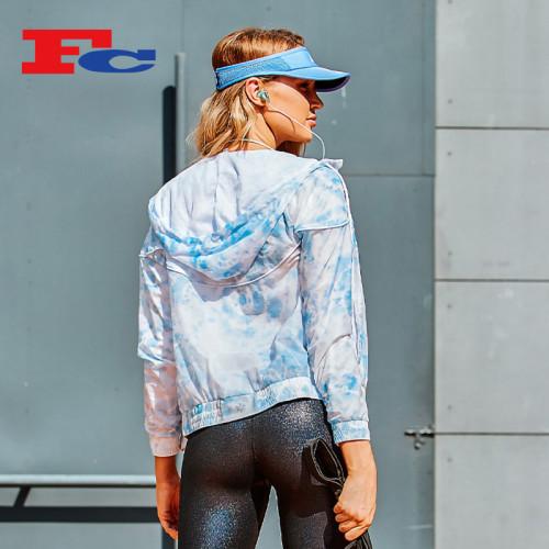 Nouveau design à la mode Tie-Dye femmes veste d'extérieur en gros