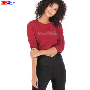 Chemise athlétique à manches longues Fengcai pour femmes en gros ou sur mesure