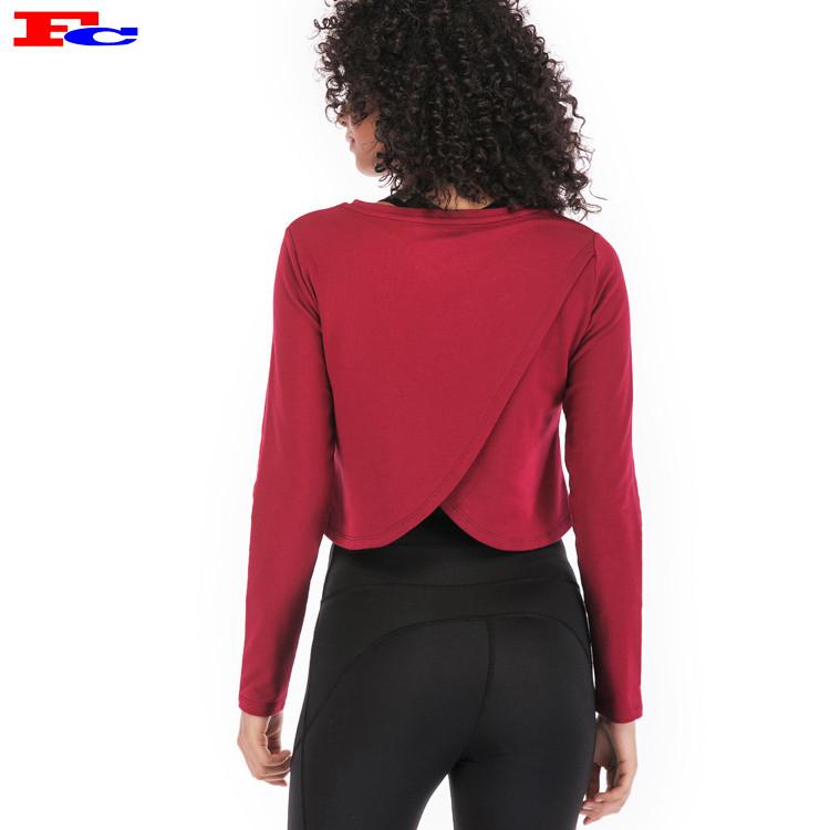 Fengcai Langarm Athletic Shirt für Frauen Großhandel oder Custom