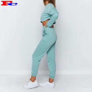 Sweats à capuche Streetwear de marque privée Ensembles de vêtements d'entraînement pour dames