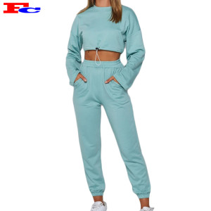 Private Label Streetwear Hoodies Set Ladies Workout Clothing Sets