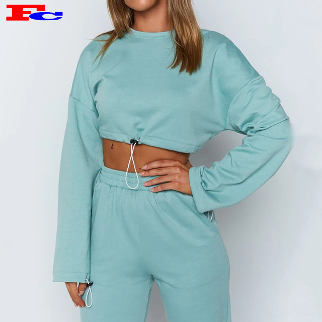 Private Label Streetwear Hoodies Set Damen Workout Kleidung Sets
