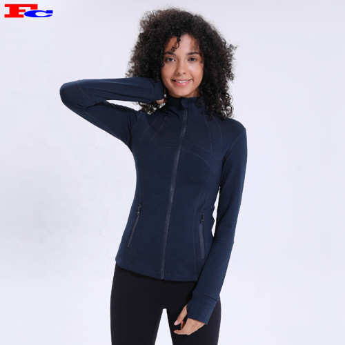 2020 Zip Seamless Running Fitness Yoga Vestes Marque Privée Fabricants Vêtements