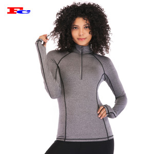 Frauen Half Zip Up Fitness Yoga Jacke Handelsmarken Bekleidungsunternehmen