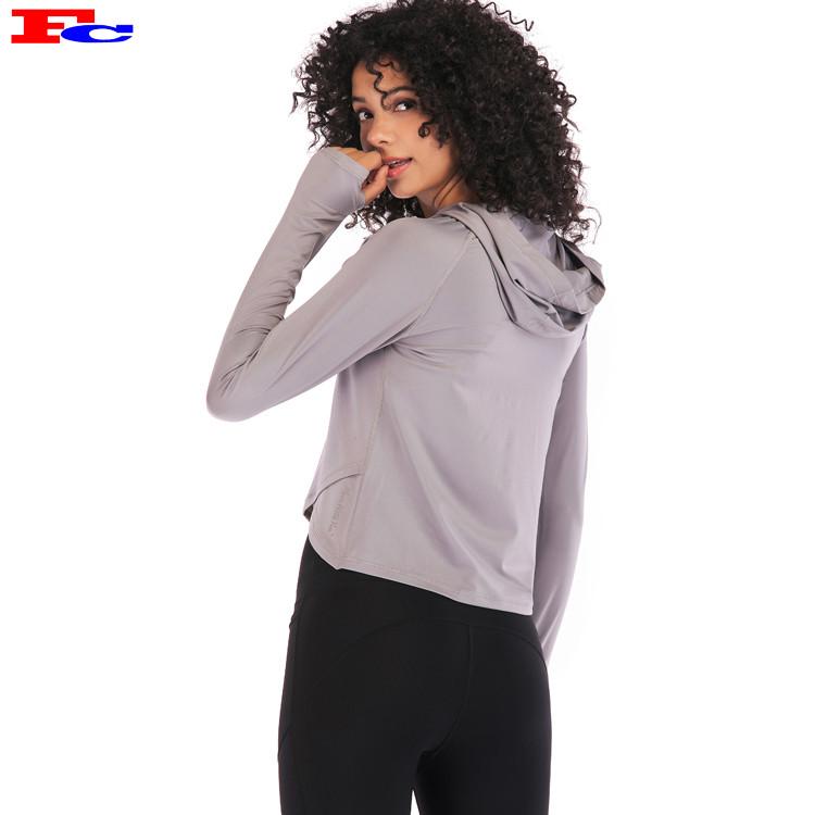 Fengcai Großhandel Sportbekleidung Custom Blank Crop Top Hoodie für Frauen
