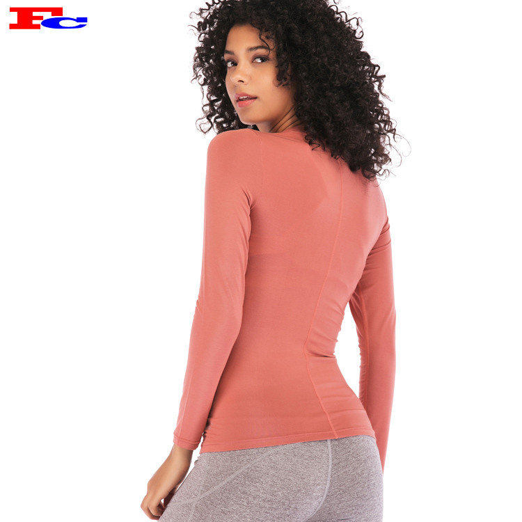 Women Fitness Yoga Long Sleeve Private Label Manufacturer Tee Shirts