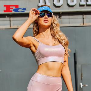 Nouveau design bronzage rose avec des soutiens-gorge de sport à sangle chic pour femmes