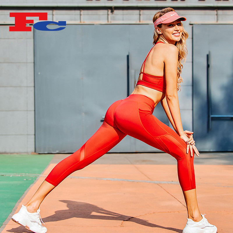 Wholesale Womens Workout Clothing With Unique Back Strap Design