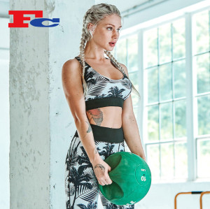 Nouveau soutien-gorge de sport imprimé numérique à la mode chaude Yoga