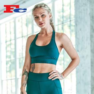 Fournisseurs Soutien-gorge de sport vert foncé pour femmes à la mode