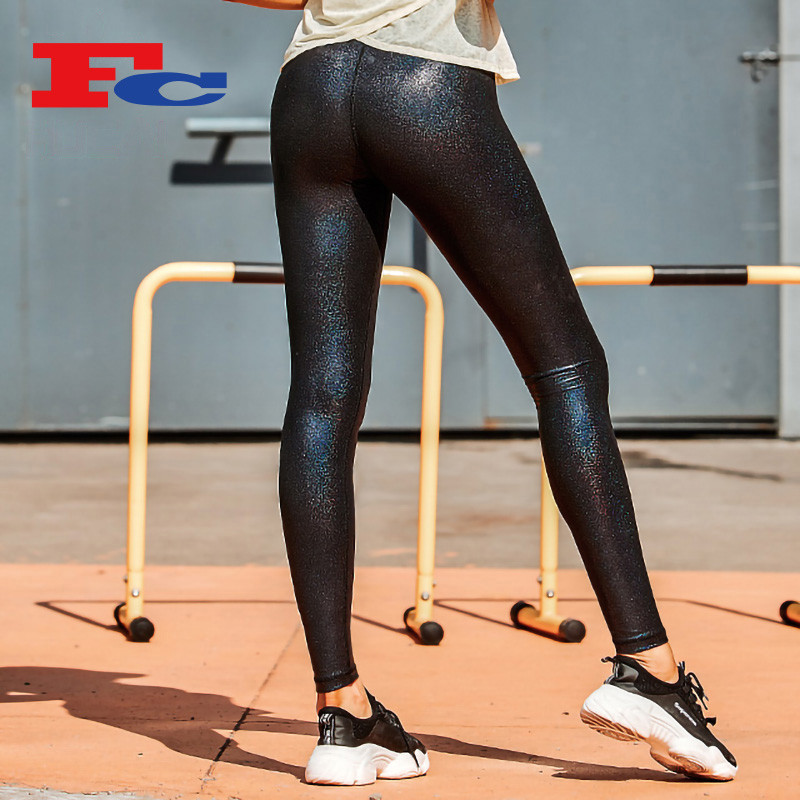 Fashion Hot Stamping Black Cheap Leggings Wholesale
