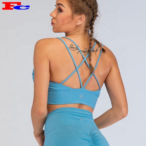 Soutiens-gorge de sport personnalisés pour femmes Fengcai avec bretelles sexy pour femmes Fitness