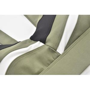 Soutien-gorge de sport de bande élastique personnalisé avec patchwork noir et blanc pour femmes