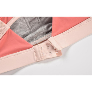 Ensemble de soutien-gorge de sport à logo rose Fengcai New Design avec boucle arrière