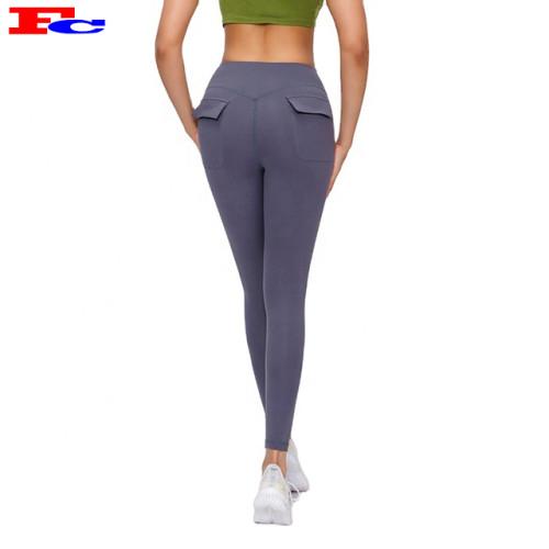 Womans Legging Gym High Waist Yoga Pants Wholesale  With Pockets
