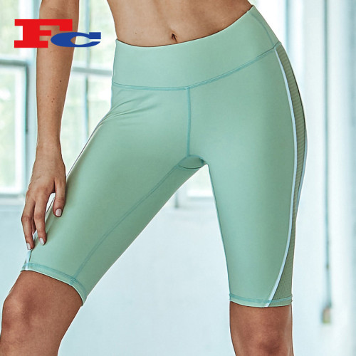 China Trendy Mint Green Mesh Bulk Gym Shorts
