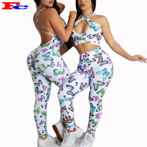 High Quality Yoga Fitness Gym Workout One Piece Activewear For Women