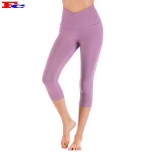 Hip-Lifting Breathable Fitness Cropped Leggings Women Slim Fit Custom Yoga Pants