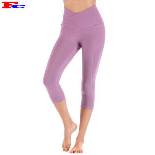 Hip-Lifting Breathable Fitness Cropped Leggings Women Slim Fit Custom Yoga Pants