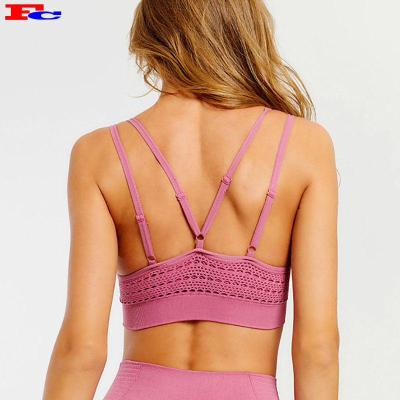 High Quality Sports Bra-Sexy Hollow Thin Shoulder Straps Trendy Wholesale Apparel