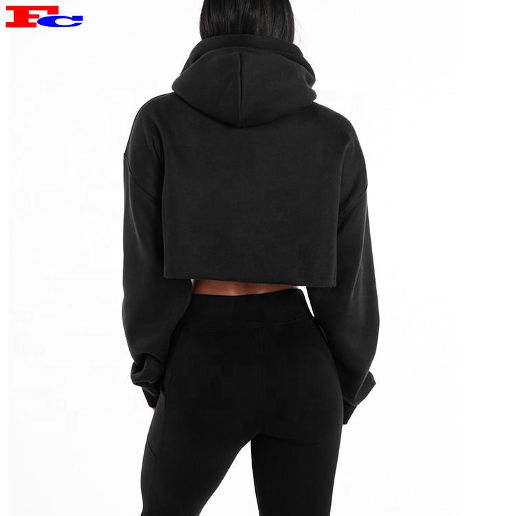 2020 Autumn Hoodie Sweatshirts Custom Logo Oversized Crop Top Hoodies Wholesale