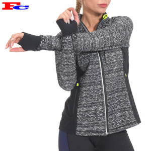 Custom Tracket Suits Full Zip Women Running Yoga Workout Jacket With Thumb Holes