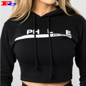Wholesale Blank Crop Hoodies Custom Embroidery Logo New Style Long Sleeve Sweatshirts