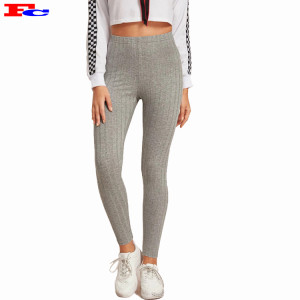 Women New Trendy Knitted Rib Fitness Leggings Comfort Leggings Manufacturer