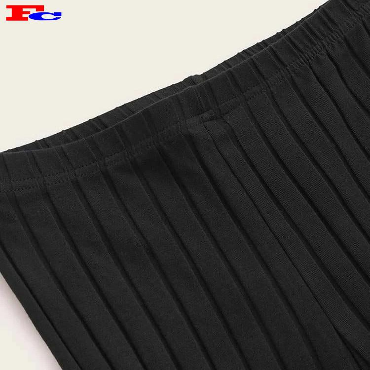 Women New Trendy Knitted Rib Fitness Leggings Comfort Leggings Manufacturer