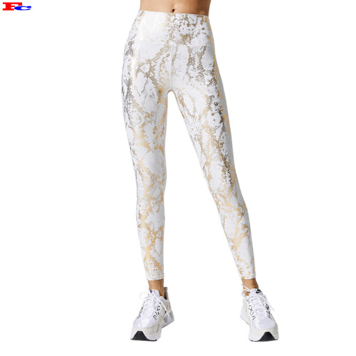 Gold Stamp High Waisted Leggings Dry Fit Anti Cellulite Yoga Pants Manufacturers