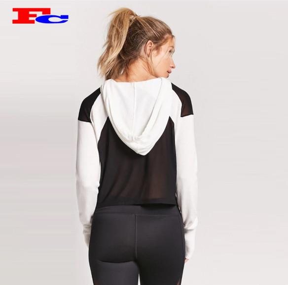 Women Sweatshirts Fitness Mesh Panel Jumpers Wear Wholesale Tracksuits In Bulk