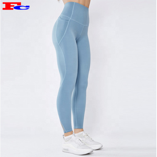 Wholesale Tights Butt Lifting Yoga Tights  4 Ways Stretches Gym Leggings With Pockets