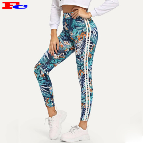 Wholesale Custom Sublimation Print Workout Leggings Fitness Tights Plus Size