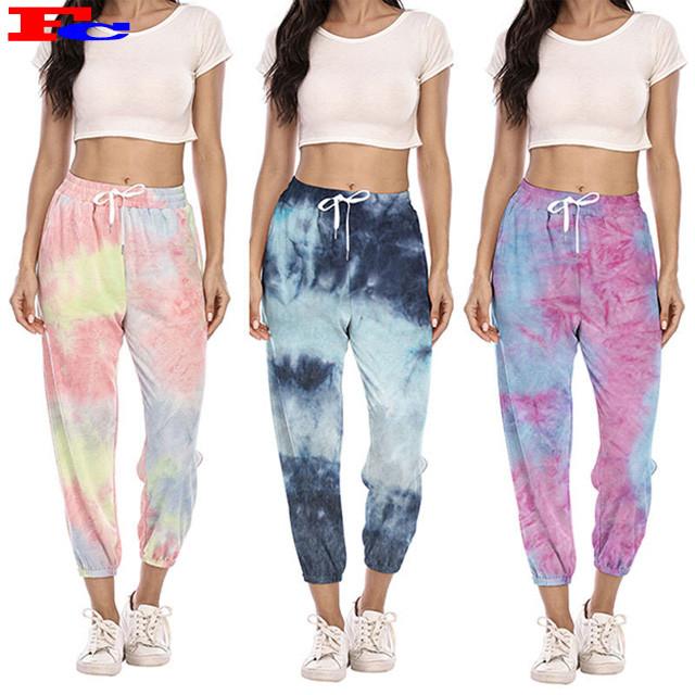 Jogging Hip-Hop Womens Jogger Pants Wholesale Tie Dye Sweatpants