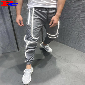 Custom Harem Sweatpants Men Streetwear Reflective Jogger Pants Wholesale