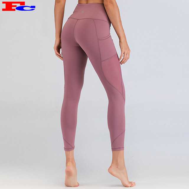 China Supplier Workout Leggings In Bulk Mesh Fitness Tights Wholesale / Custom