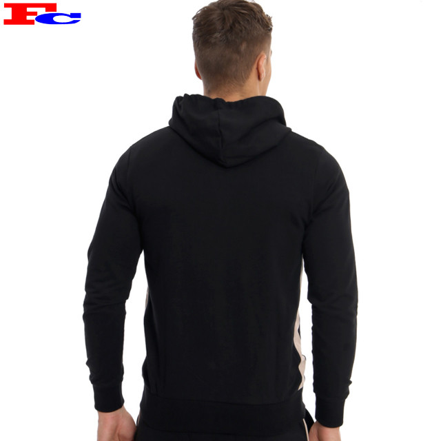 New Design Mens Wholesale Tracksuits Custom Sports Zipper Black Tracksuits Top