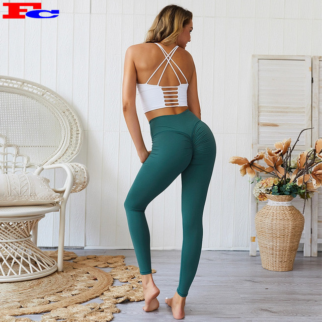 Sexy Active Sports Wear High Waisted Scrunch Leggings Womens Gym Leggings Wholesale