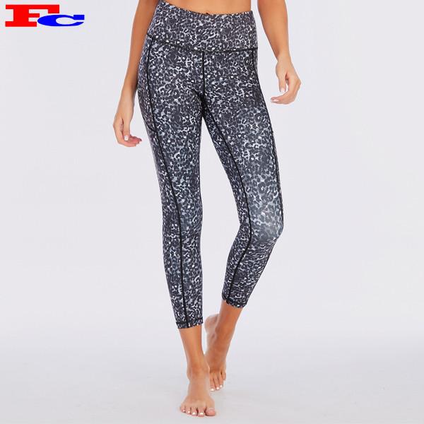 Work Out Apparel Woman Yoga Set Leopard Sportswear Suppliers