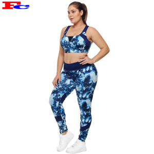 Chinese Activewear Manufacturer Plus Size Tie-Dye Fitness Workout Clothes For Women