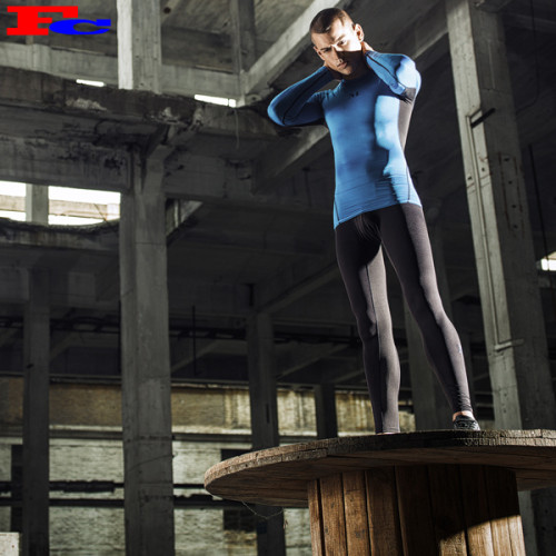 Chinese Activewear Manufacturer Men's Sports Set High Elastic Gym Tights Training Suit