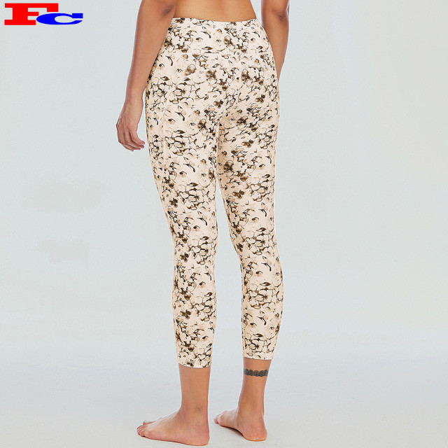 High Waisted Yoga Pants Women Best Print On Demand Leggings Capri Pants Fitness Tights