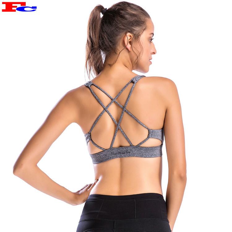 Wholesale Gym Workout Fitness Custom Logo Sports Bra Crop Top