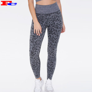 Wholesale Legging New Style Workout Jacquard Fabric Thick Jogging Yoga Pants For Women
