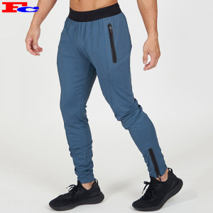 Autumn Winter Gym Training Fitness Sweatpants Cotton Polyester Men's Zipper Jogger
