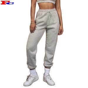 Custom Wholesale Womens Jogger Pants Active Cotton Fleece Sweat Track Pants